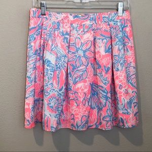 Lilly Pulitzer Selina Summer Siren Pleated Skirt